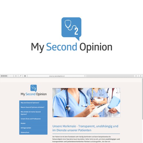 Logo design for internet platform for remote medical second opinions