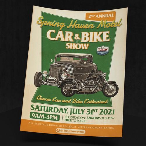 Vintage Motor Show Flyer
