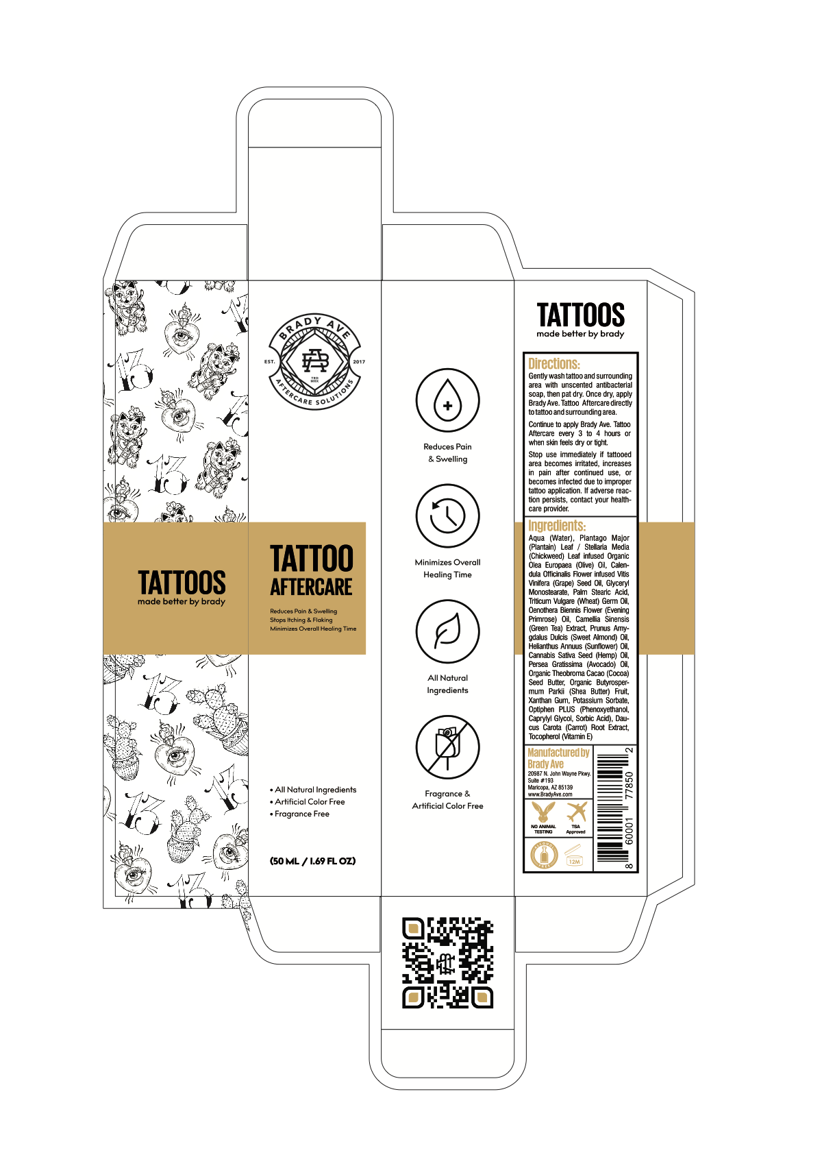 Tattoo Aftercare Lotion Needs Packaging & Labeling