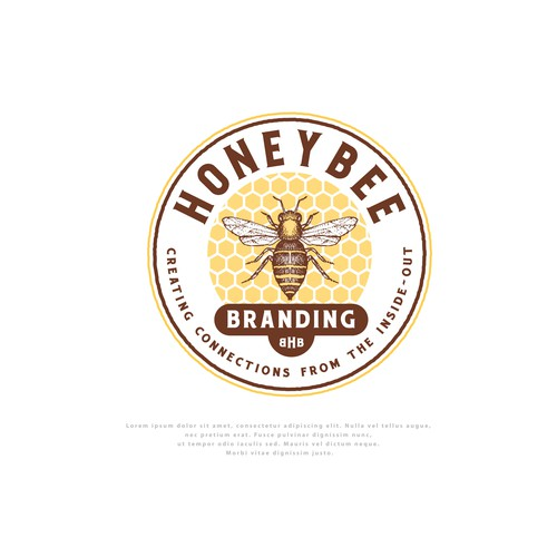Logo for Honey Bee Branding