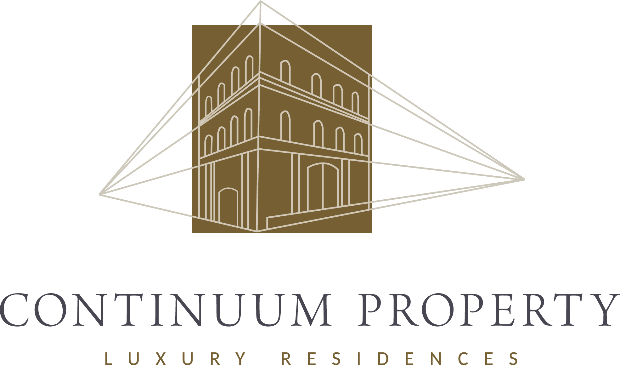 Logo and website for an ultra luxury residence development company