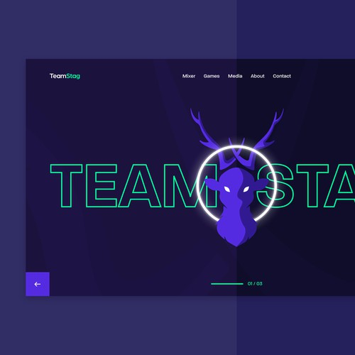 Team Stag Web Page Design