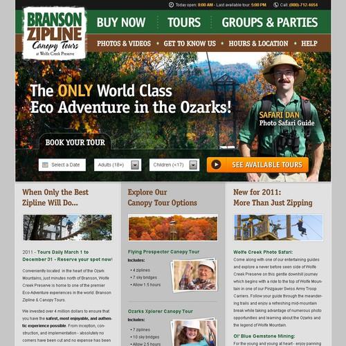 Branson Zipline Needs a New Website