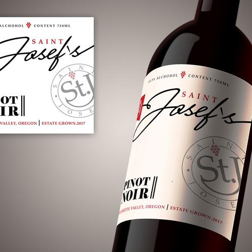 Diseño de etiqueta para botella de vino
