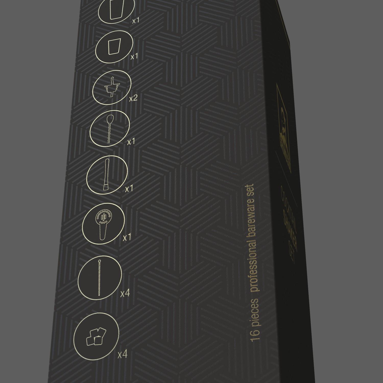 Design premium/modern/minimalist looking cocktail set packaging