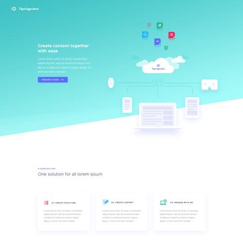 Modern landingpage for Saas startup