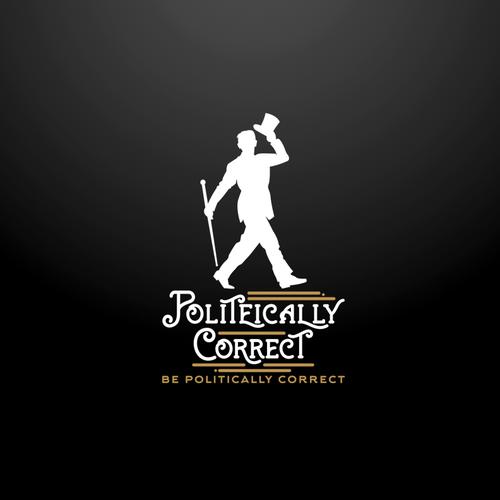 Politeically Correct vintage logo concept