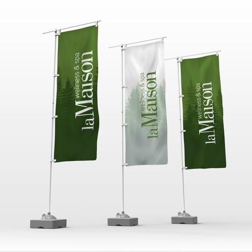 Banner for Hotel Entrance