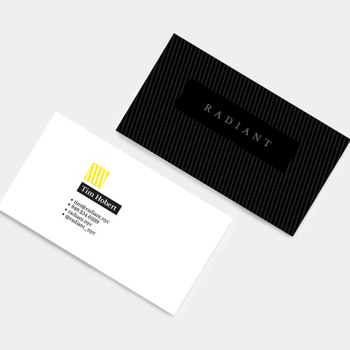Business cards for digital agency in NYC