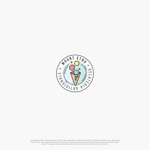 Modern Logo concept for a ice-cream shop