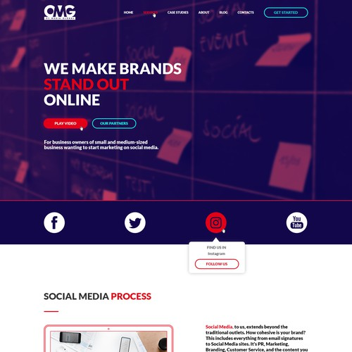 Viral Video Marketing Agency Web Design Concept