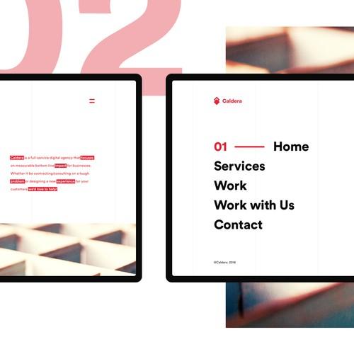 Caldera web design