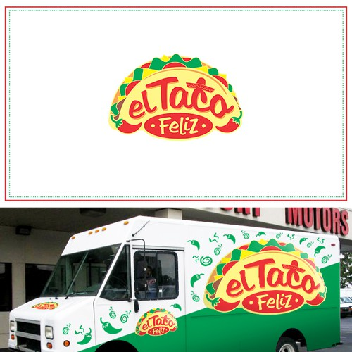 El Taco Feliz - Food Truck Logo
