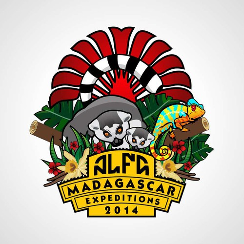 Create a logo for off-road Madagascar Expedition