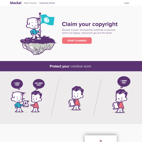 Homepage Design for copyright protection