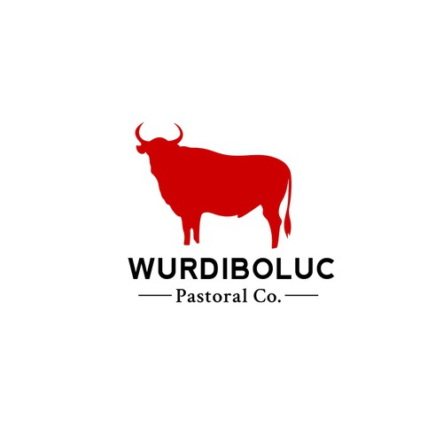 Clean logo design for Wurdiboluc Pastoral Co.