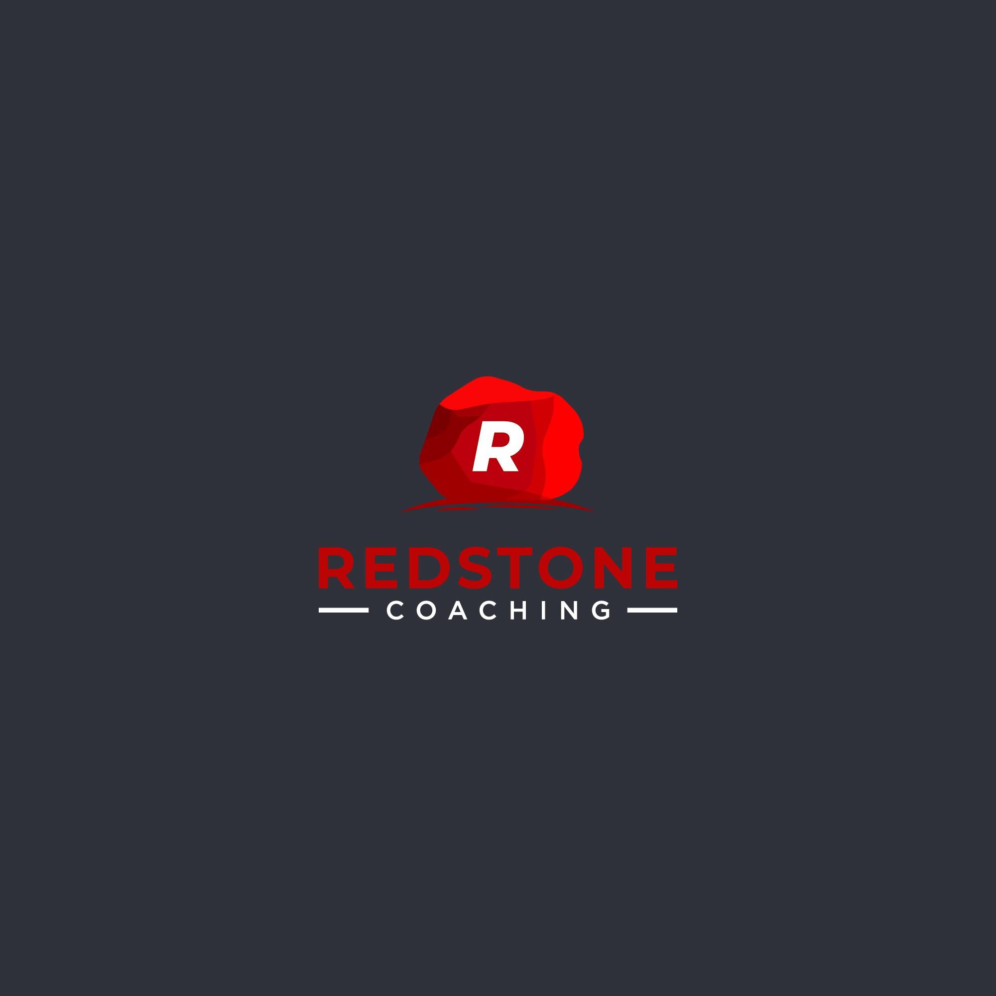"""Rustic nature """"redstone"""" logo for career & professional coaching services"""