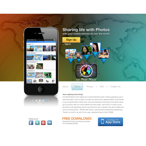 our Photo Planet needs a new website design