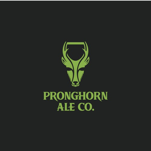 Logo for Pronghorn Ale beer