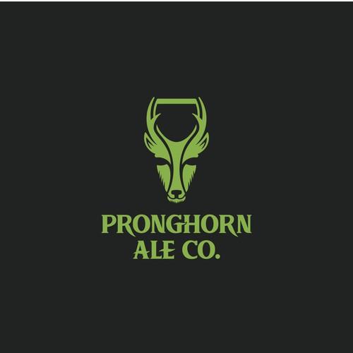 Logo for Pronghorn Ale beer