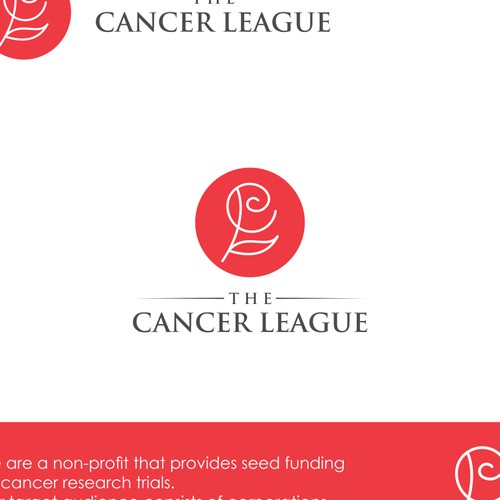 Logo for cancer league
