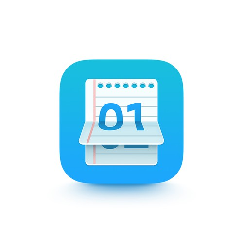 Word Count Notepad App Icon