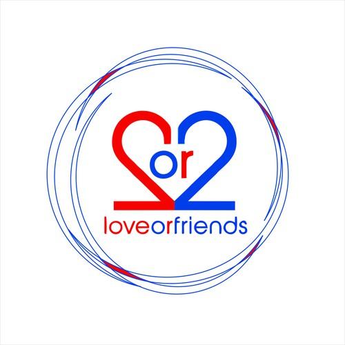 love or friend logo