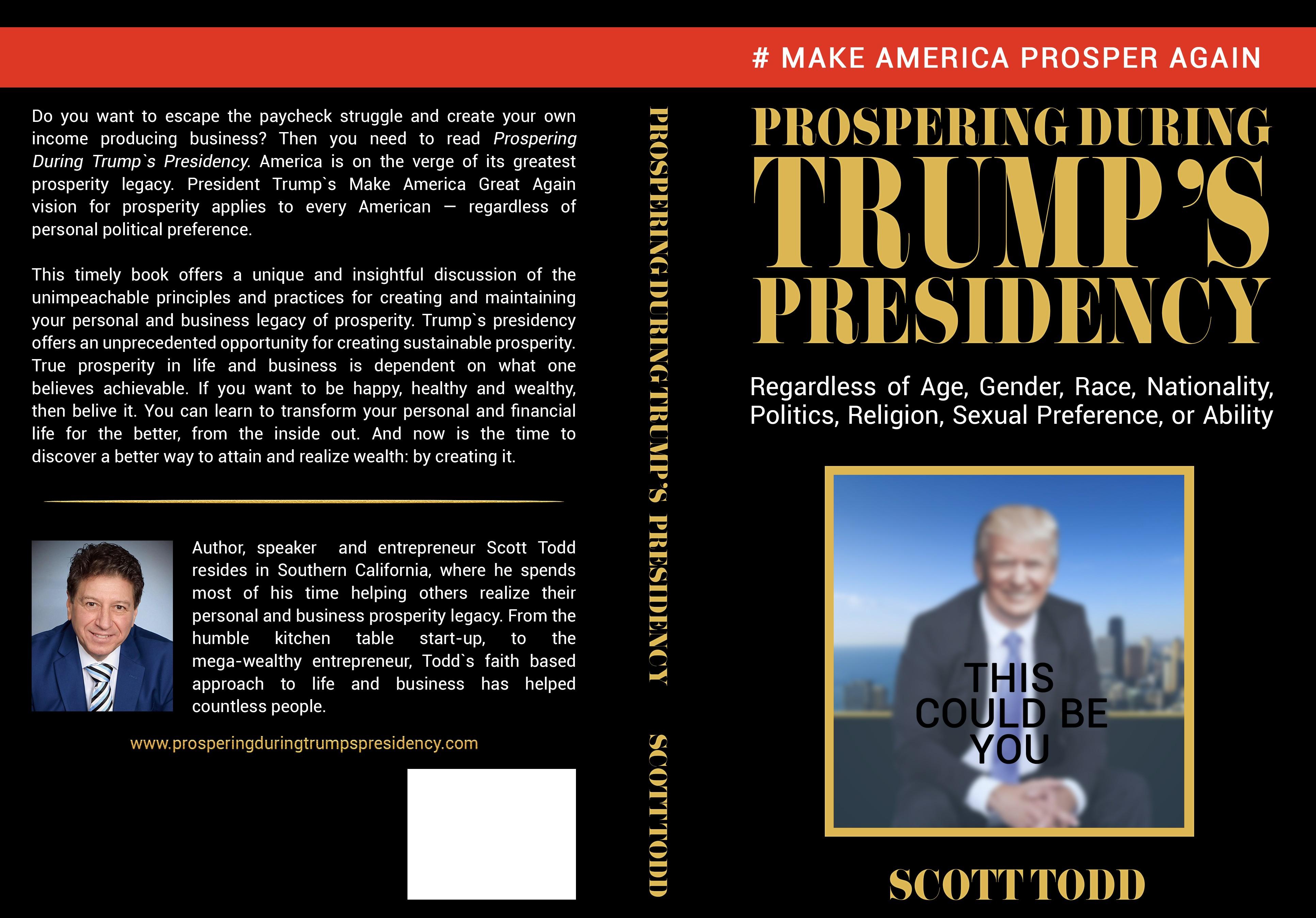 """Prospering During Trump's Presidency: book cover 6"""" x 9"""" (15.24 x 22.86 cm)"""