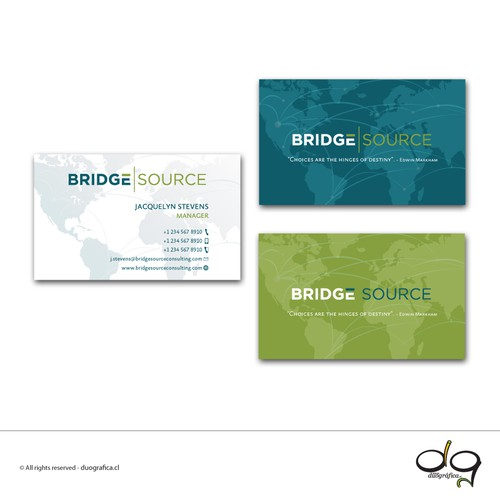 Elegant + modern business card
