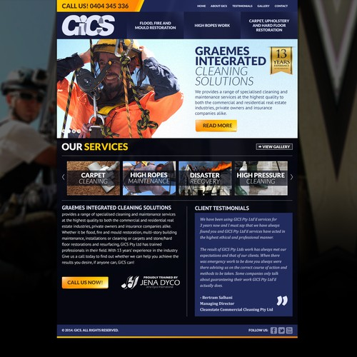 Create GICS new Website
