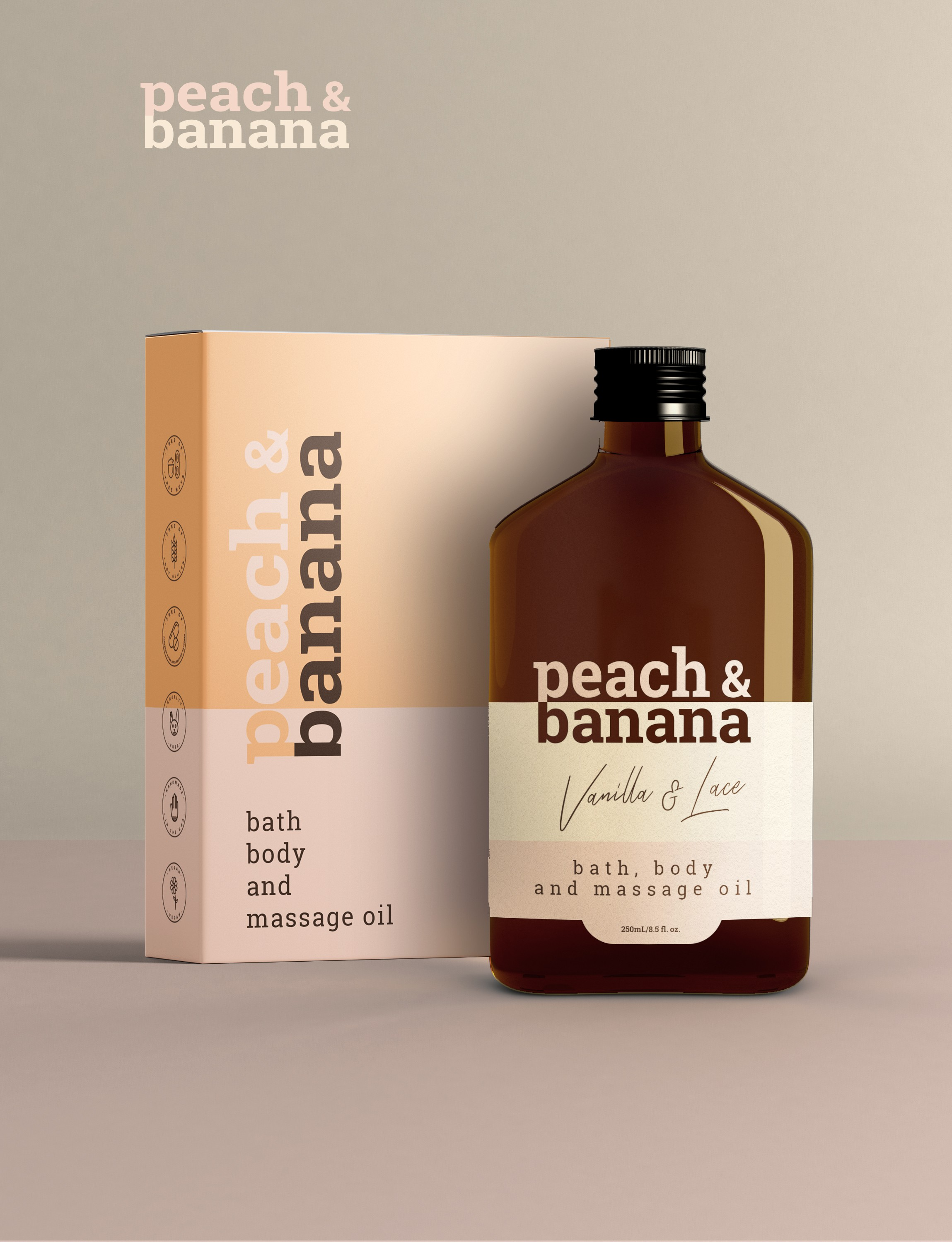 Peach and Banana Packaging