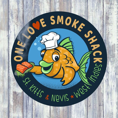 Logo for Smoked Fish Store in St. Kitts, Nevis West Indies