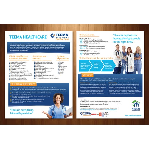 New brochure design wanted for TEEMA Solutions Group