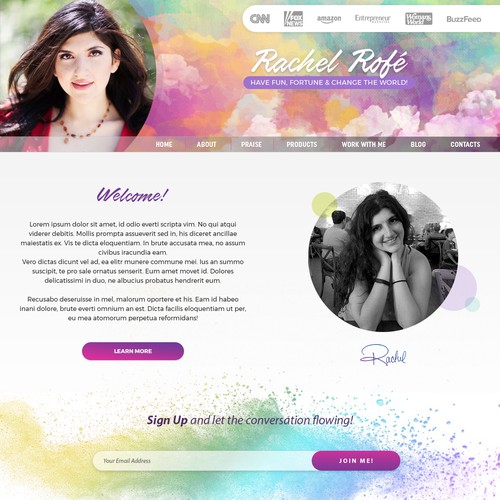 Website Revamp for Rachel Rofé
