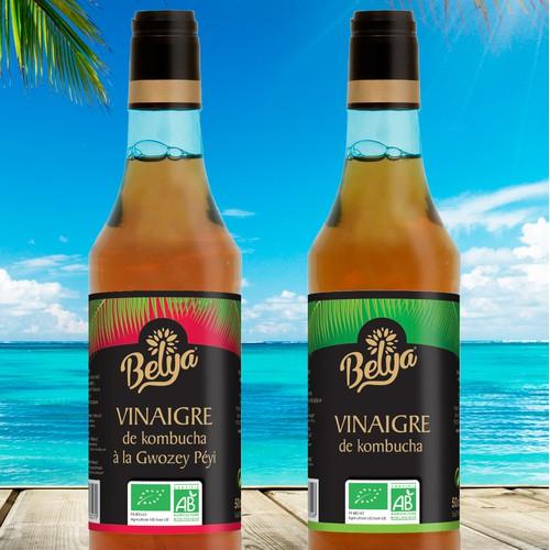 Elegant Labeldesign Caribbean Vinegar