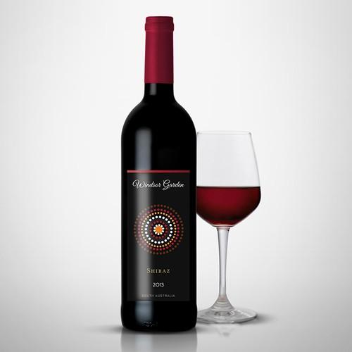 "Wine label for our ""Windsor Garden"" range"