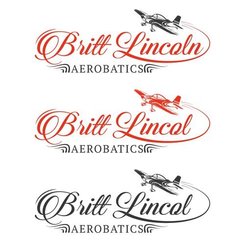 Badass logo for female aerobatic pilot