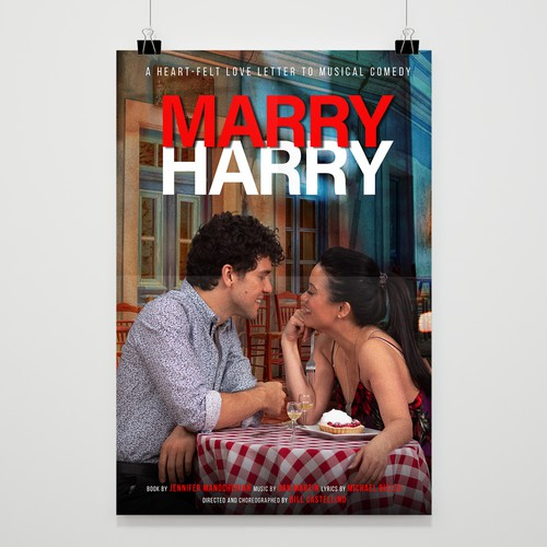 Poster Design for A Heart-Felt Love Letter to Musical Comedy. MARRY HARRY