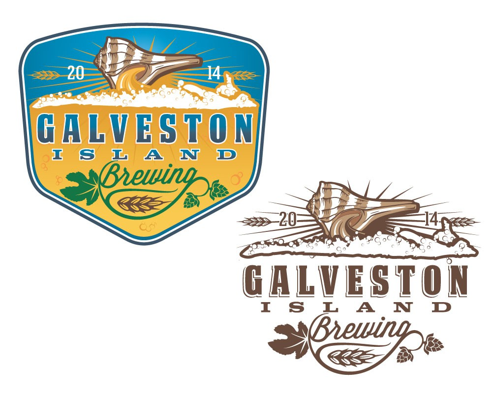 Create a logo for new brewery in a beach side city, Galveston Texas. Beer.