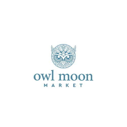 Sophisticated Bohemian themed Logo for Owl Moon Market