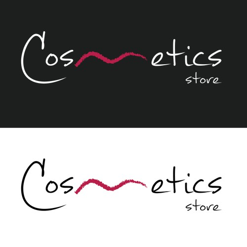 please create a logo for our new online shop for high quality cosmetics