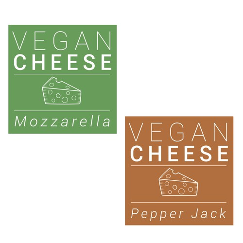 Vegan Cheese Label