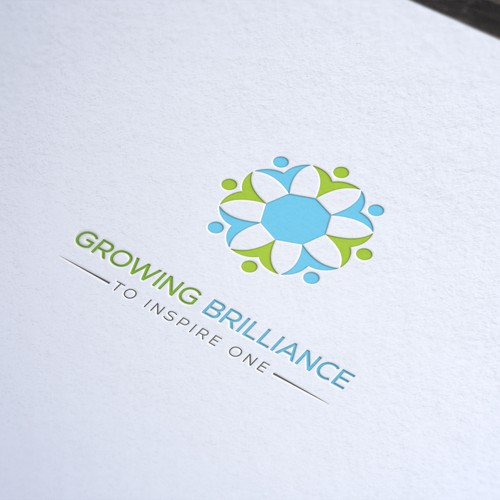 Create an eye catching 'growing' image for Growing Brilliance