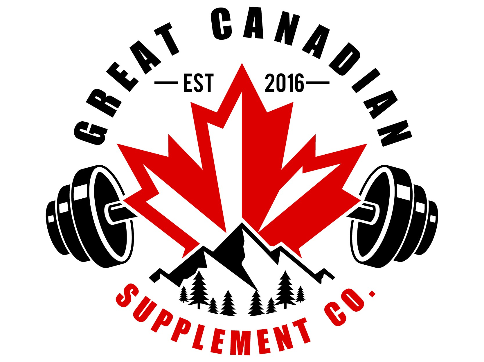 A supplement retailer that needs a Canadian and fitness oritented logo