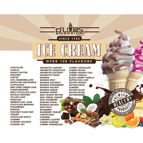 List of Ice Cream Flavors in Style