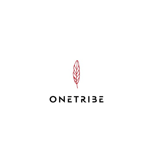 ONE TRIBE - edgy and bold logo for hair and makeup site