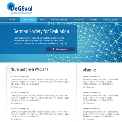 "Redesign the ""German Society for Evaluation"""