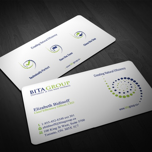 Business cards in a hurry