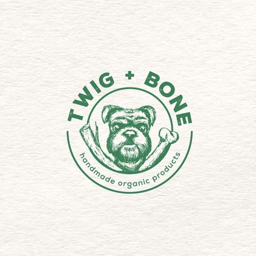 "Logo concept ""twig + bone"""