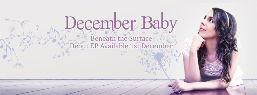 Create a Facebook cover for pop singer-songwriter December Baby